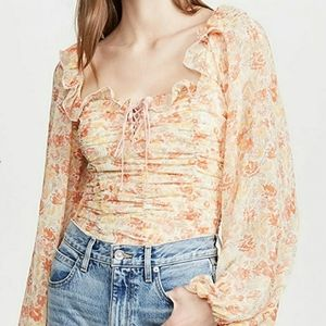 Free People Mabel Blouse Spring Combo Sz S